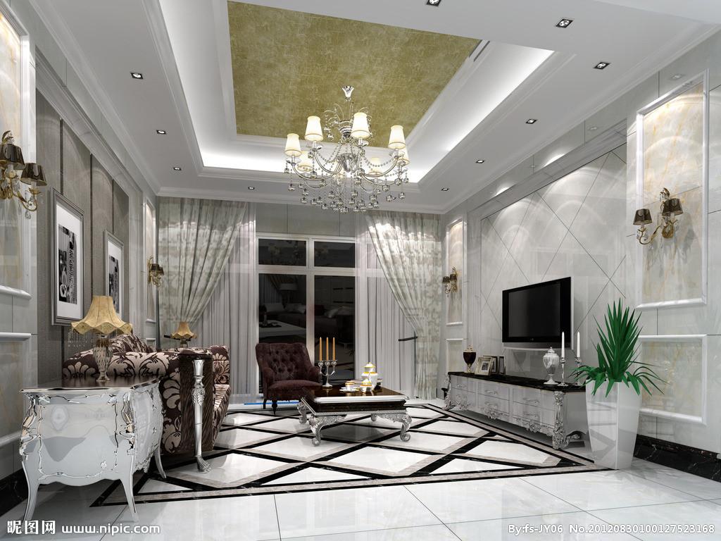 欧式客厅地面